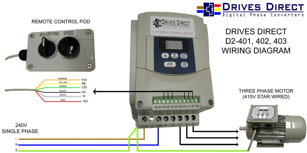 WEB D2 401 402 403 CONNECTION DIAGRAM WITH REV OFF FWD + SPEED drives direct digital phase converters downloads single phase to 3 phase converter wiring diagram at soozxer.org